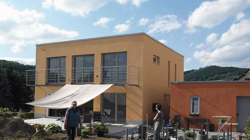 Passivhaus Floh-Seligenthal - ausgezeichnet mit dem Energiesparpreis. Neubau nach Passivhausstandard.